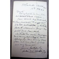 Arthur William a Beckett, Journalist & Intellectual, Signed 1899 letter