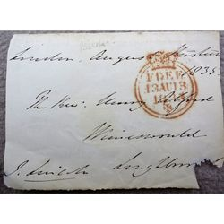 John Kaye Bishop of Lincoln Signed 1835 Envelope Clip