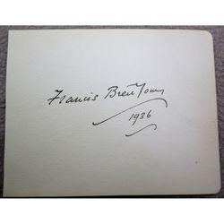 Francis Brett Young 1936 Autograph