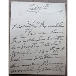 Marie Effie Wilton, Lady Bancroft  Actress Theatre Manager Signed Letter