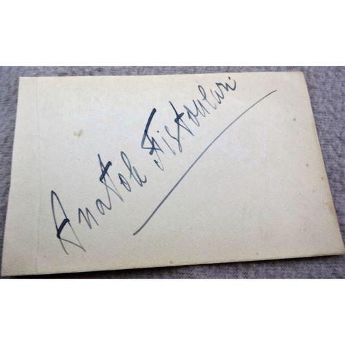 Anatole Fistoulari Conductor Autograph