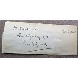 Sarah Grand (Frances Elizabeth Bellenden Clarke) Signed Letter Clip