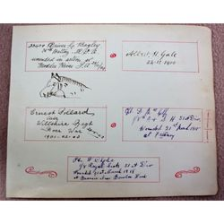 Page of Military Autographs Boer War and WWI