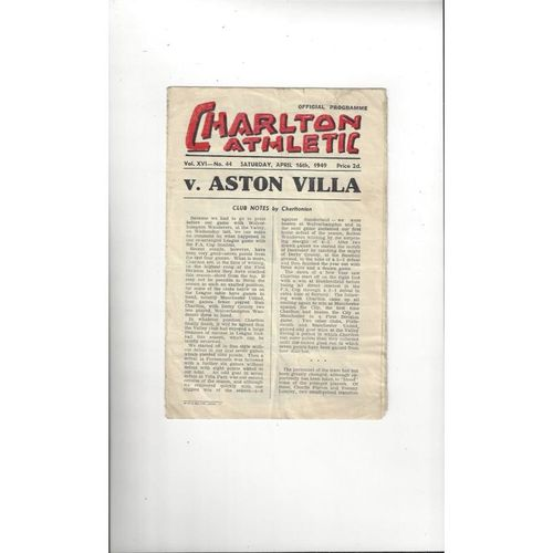 Charlton Athletic Home Football Programmes