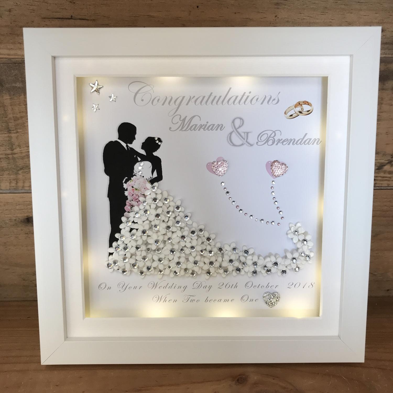 Led Shop Lights >> Bride and Groom 3D frame | Crafty Monkey | Unique Personalised Wedding Frames | Unusual Gift ...