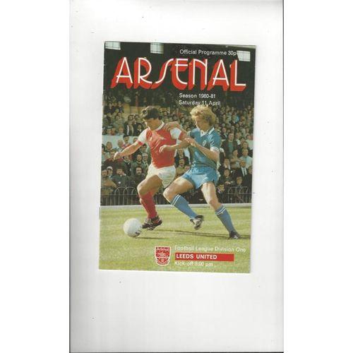 Arsenal Home Football Programmes