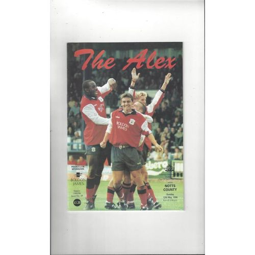 Crewe Alexandra v Notts County Play Off Football Programme 1995/96