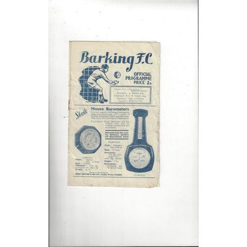 1948/49 Barking v Leyton FA Cup Football Programme