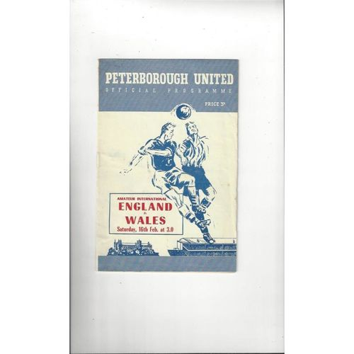1957 England v Wales Amateur International Football Programme