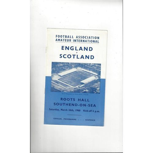 1960 England v Scotland Amateur International Football Programme
