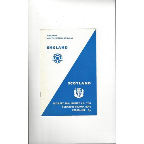 1974 England v Scotland Amateur International Football Programme