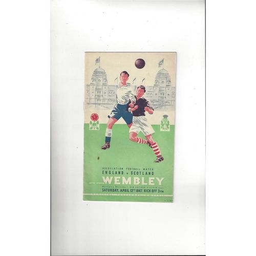 1947 England v Scotland Football Programme