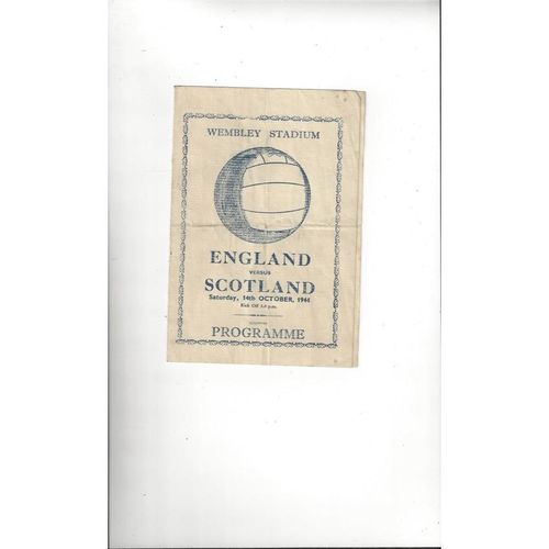1944 England v Scotland Football Programme Pirate Edition
