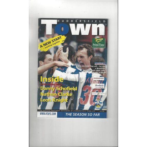 Huddersfield Town v Brentford Play Off Football Programme 2001/02