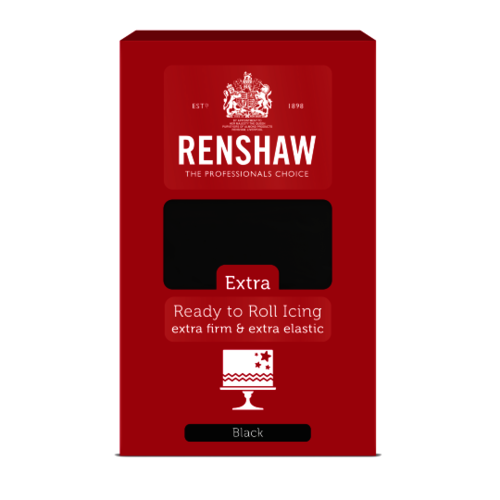 RENSHAW EXTRA BLACK READY TO ROLL ICING 1KG