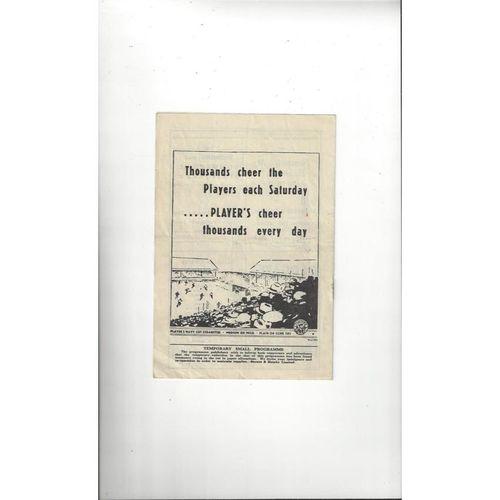 1947/48 Notts County v Watford Football Programme