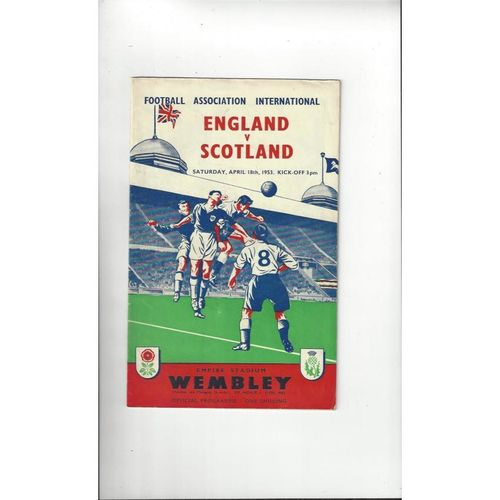 1953 England v Scotland Football Programme