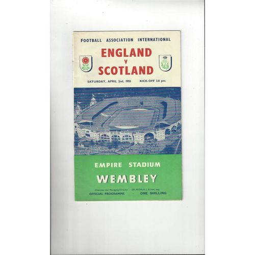 1955 England v Scotland Football Programme