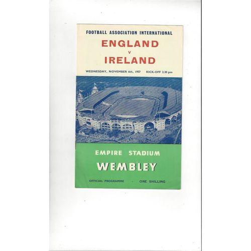 1957 England v Northern Ireland Football Programme