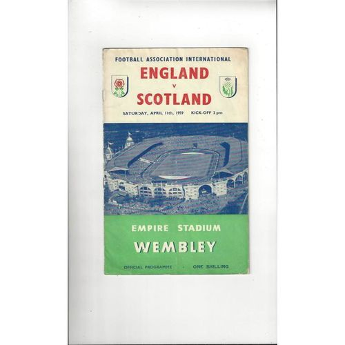 1959 England v Scotland Football Programme