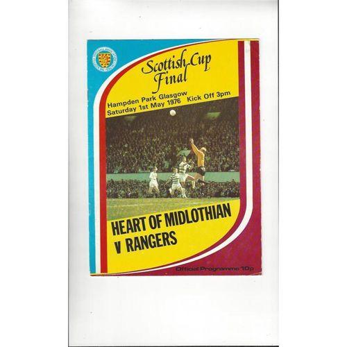 1976 Hearts v Rangers Scottish Cup Final Football Programme