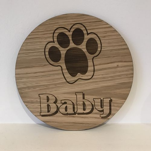 Large Pet paw wall sign