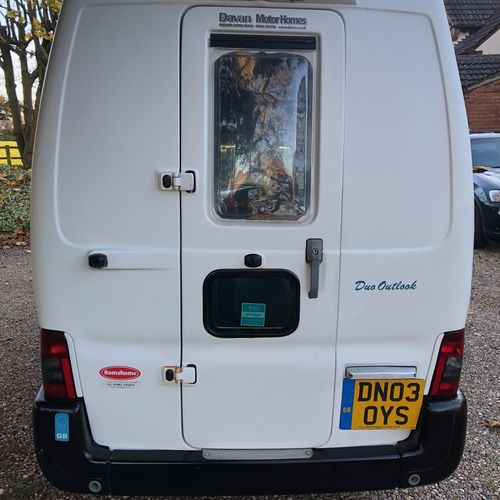 Romahome Duo Outlook Camper Van 2 Berth 2003 Citroen Berlingo 1.9D
