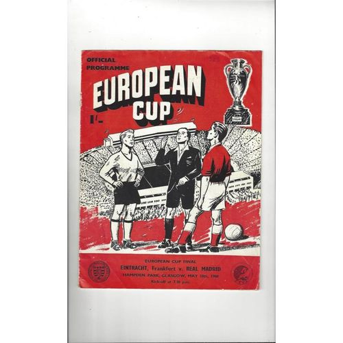 1960 Eintracht Frankfurt v Real Madrid European Cup Final Football Programme