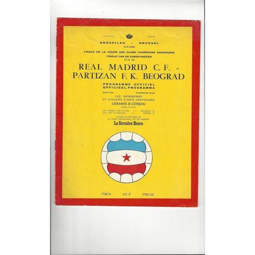 1966 Real Madrid v Partizan Belgrade European Cup Final Football Programme