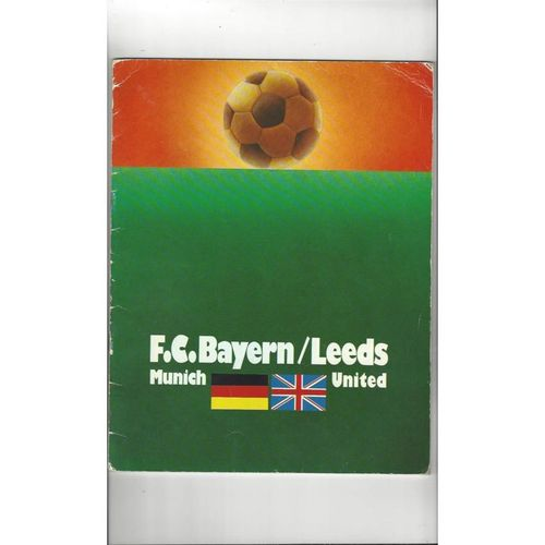 1975 Bayern Munich v Leeds United European Cup Final Football Programme
