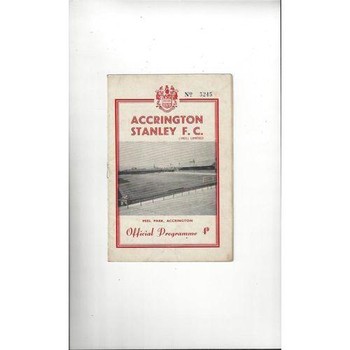 1961/62 Accrington Stanley v Crewe Alexandra Football Programme
