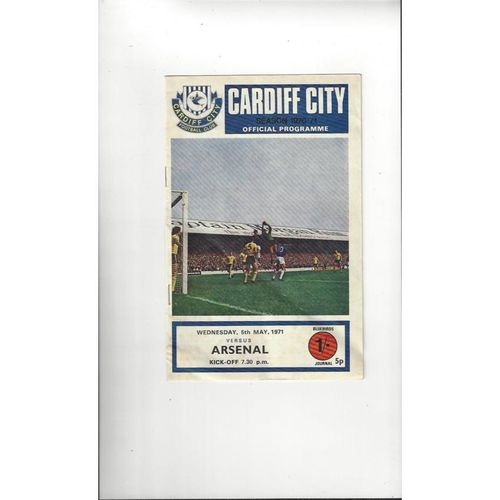 1971 Cardiff City v Arsenal Youth Cup Final Football Programme