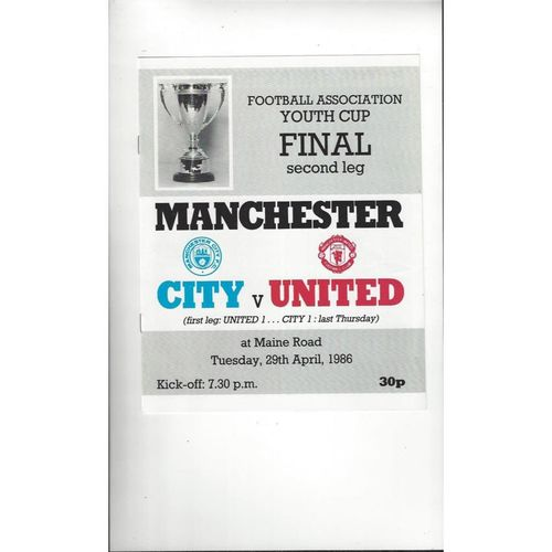 Youth Cup Final Football Programmes