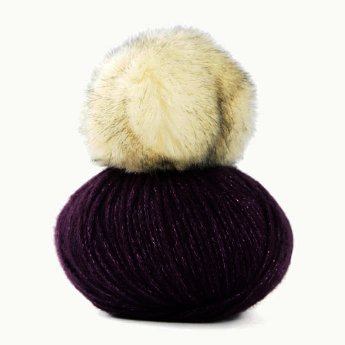 Mondial Lady Lame Pom Pom hat