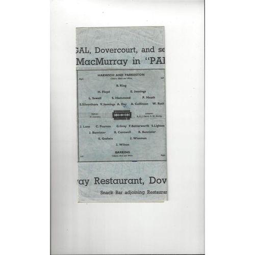 1946/47 Harwich & Parkeston v Barking FA Cup Football Programme