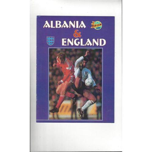 2001 Albania v England Football Programme