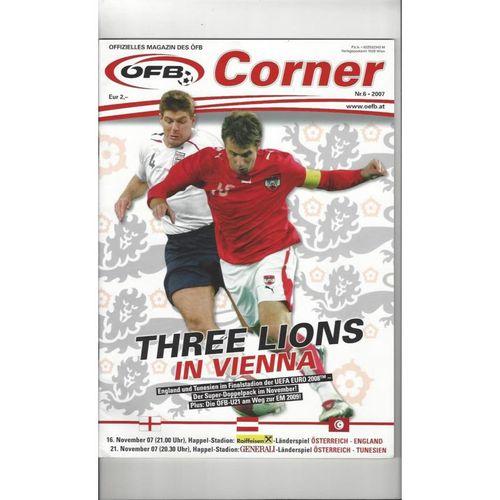 2007 Austria v England Football Programme