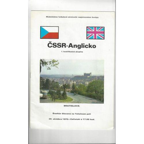 1975 Czechoslovakia v England Football Programme