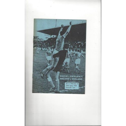 1966 Finland v England International Football Programme