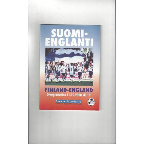 2000 Finland v England Football Programme