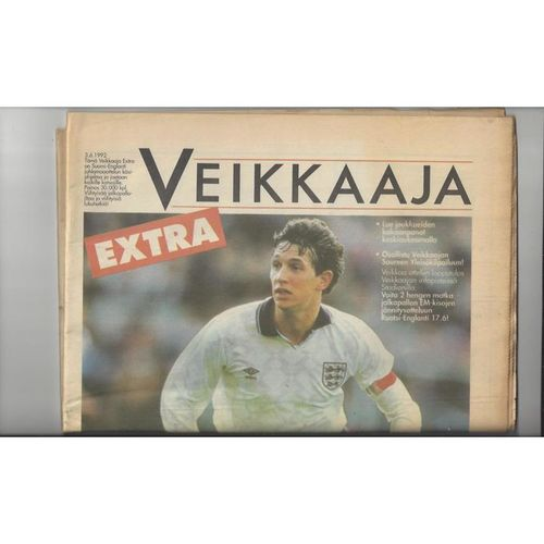 1992 Finland v England Newspaper Edition