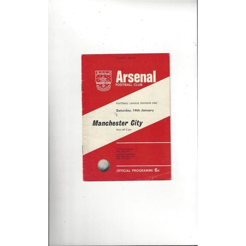 1966/67 Arsenal v Manchester City Football Programme