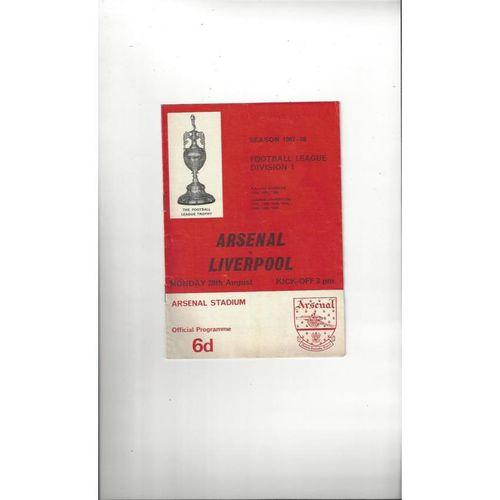 1967/68 Arsenal v Liverpool Football Programme