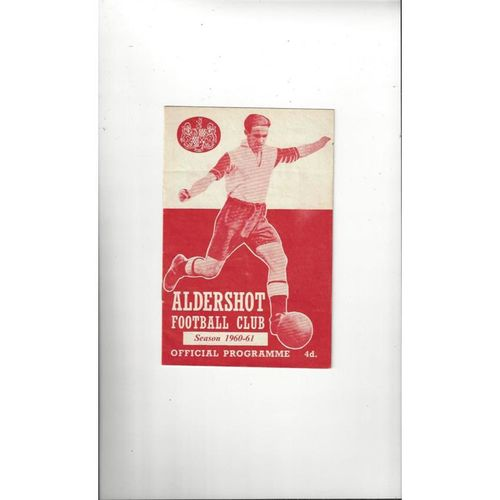 1960/61 Aldershot v Peterborough United Football Programme