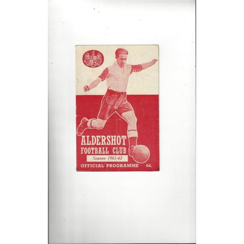 1961/62 Aldershot v Crewe Alexandra Football Programme