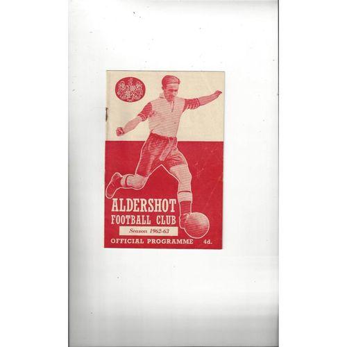 1962/63 Aldershot v Brentford Football Programme