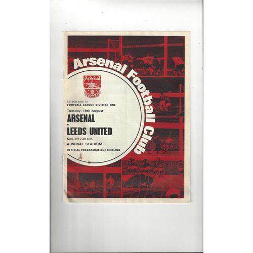 1969/70 Arsenal v Leeds United Football Programme