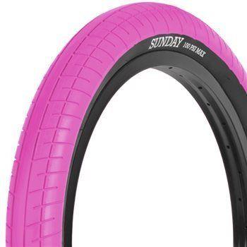 Sunday street sweeper bmx tyre pink
