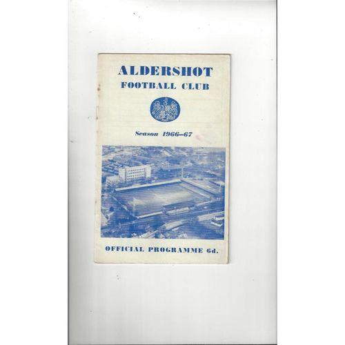 1966/67 Aldershot v Hartlepool United Football Programme + League Review