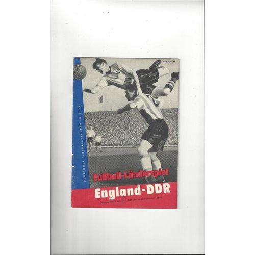 1963 East Germany v England Football Programme